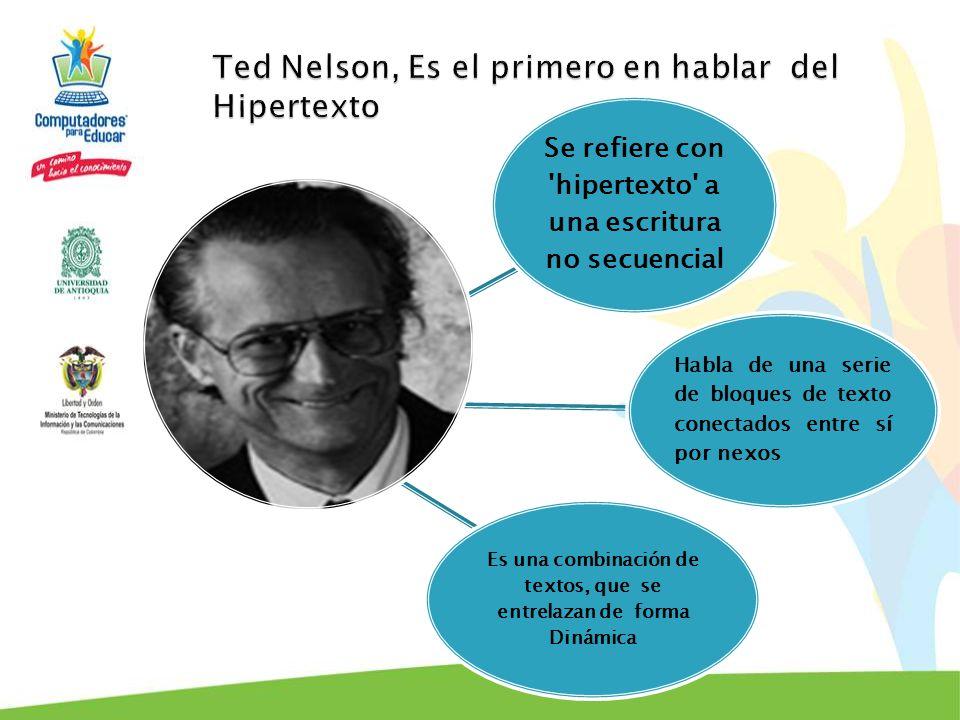 La estructura del Hipertexto está compuesta por nodos y enlaces que simulan una función natural de la mente: asociar ideas e información.