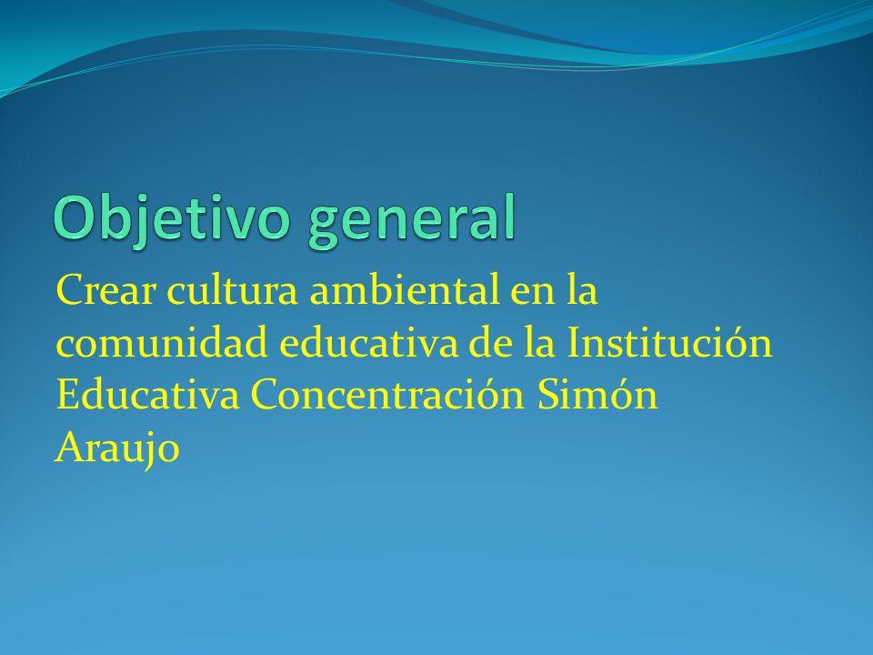 Crear cultura ambiental en la comunidad educativa de la Institución Educativa Concentración Simón Araujo