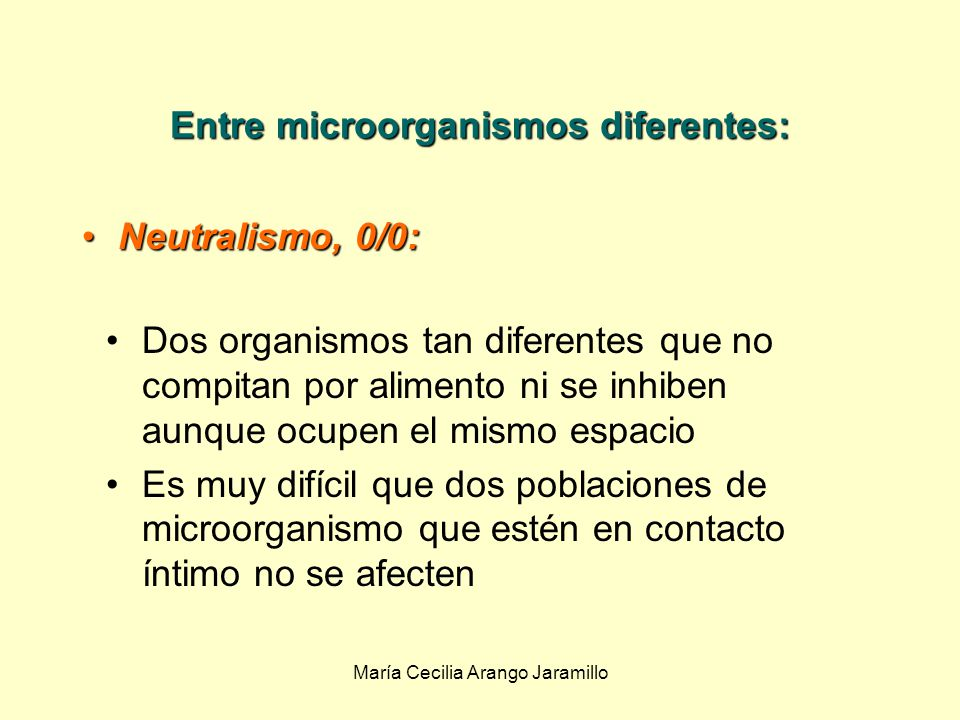 María Cecilia Arango Jaramillo Asociaciones microbianas en ecosistemas Los microorganismos de un ecosistema presentan asociaciones e interacciones : Entre microorganismos Entre microorganismos Entre microorganismos y de organismos superiores.