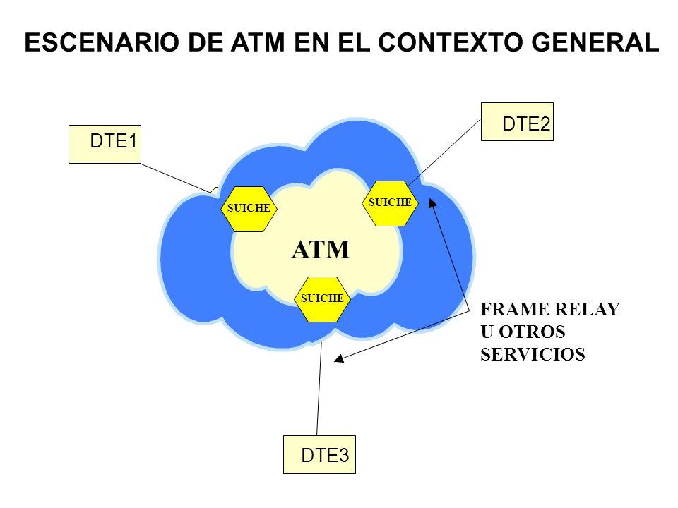 SUICHEO (ENRUTAMIENTO) PTO ENTRADA VPI/VCI ENTRADA PTO SALIDA VPI/VCI SALIDA 110/804 15/85 110/885 25/85 No se especifica un protocolo de enrutamiento en particular al establecer el circuito (ruta).