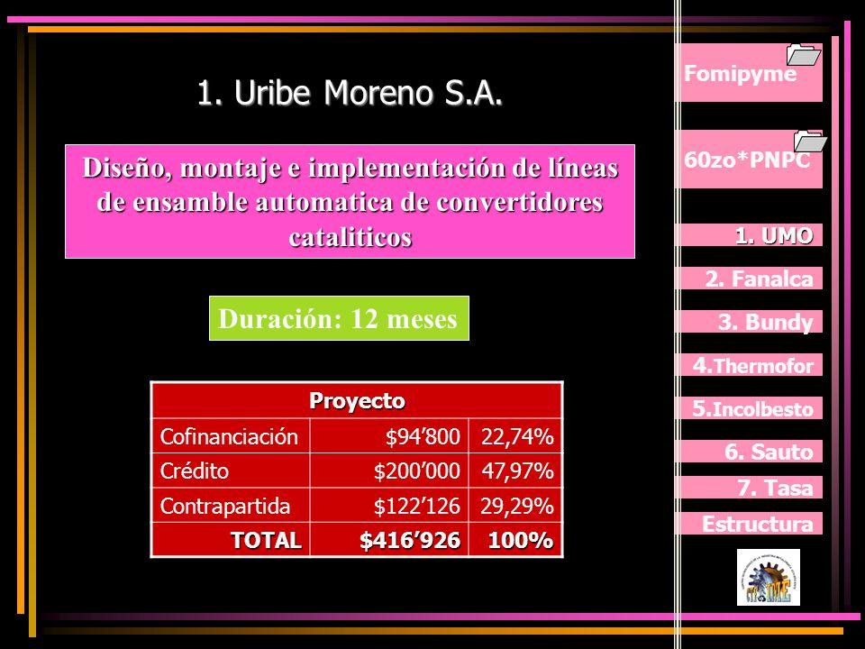 60zo*PNPC Fomipyme Objetivo: Objetivo: Desarrollo del cluster auto-partista Colombiano para la integración de partes, piezas y componentes nacionales