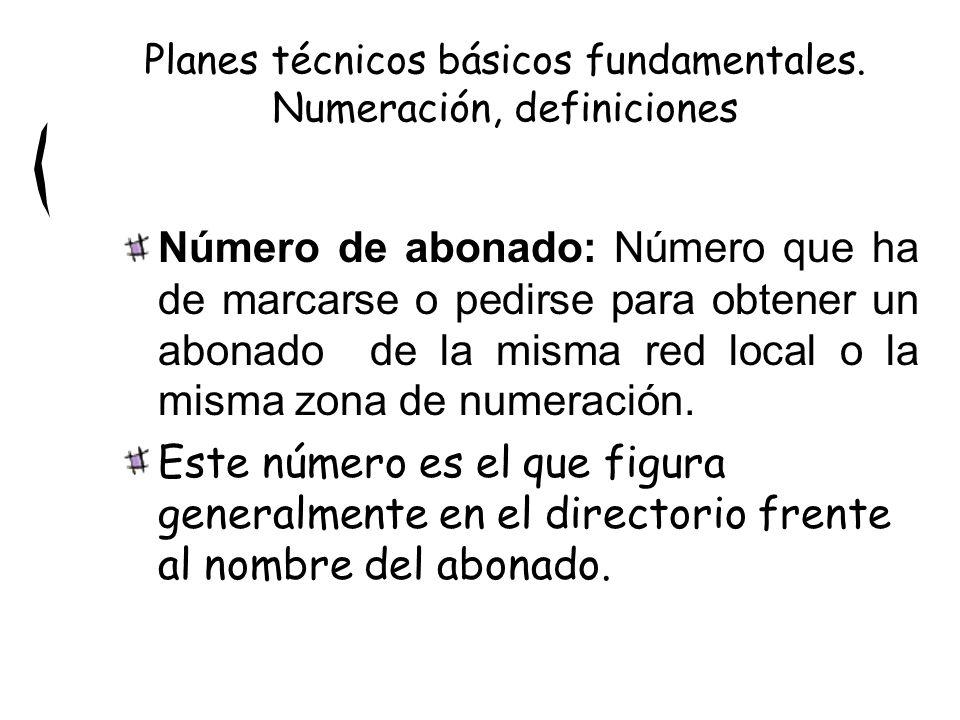 Número de abonado: Número que ha de marcarse o pedirse para obtener un abonado de la misma red local o la misma zona de numeración. Este número es el