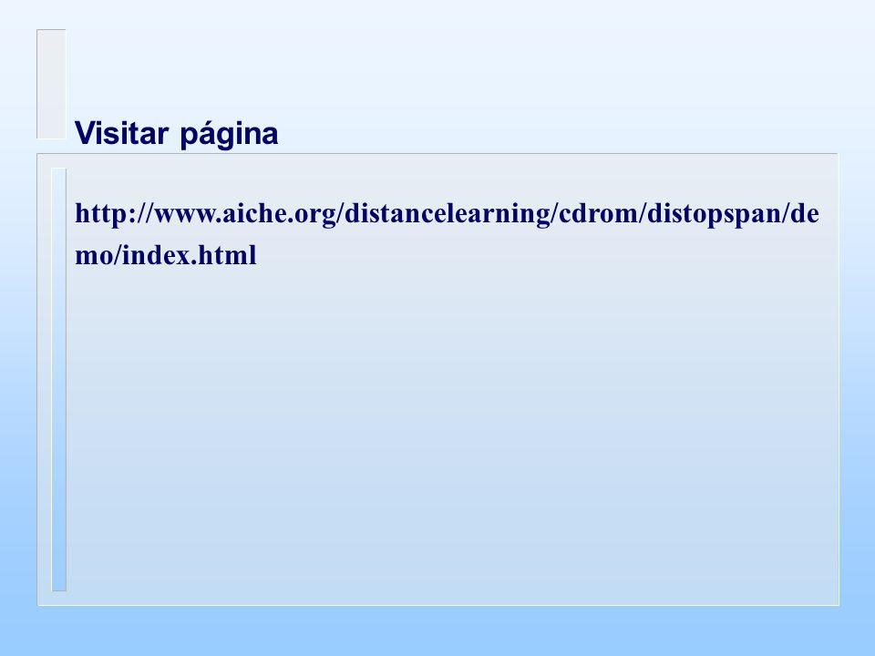 Visitar página http://www.aiche.org/distancelearning/cdrom/distopspan/de mo/index.html