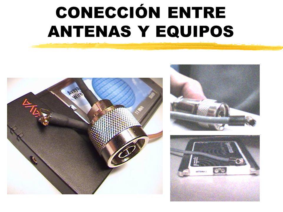 CONECCIÓN ENTRE ANTENAS Y EQUIPOS