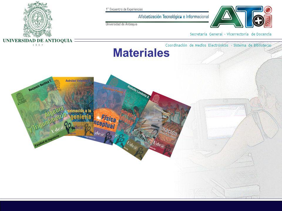 Secretaría General · Vicerrectoría de Docencia Coordinación de Medios Electrónicos · Sistema de Bibliotecas 5.