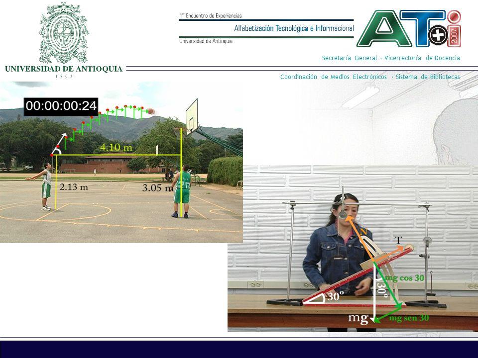 Secretaría General · Vicerrectoría de Docencia Coordinación de Medios Electrónicos · Sistema de Bibliotecas Multimedia Presentación de la información por medio del computador, usando diferentes medios: textos, audios, gráficos, animaciones y videos.
