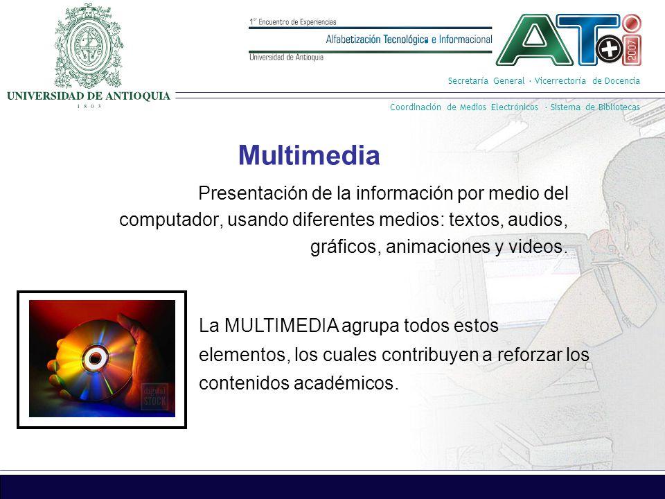 Secretaría General · Vicerrectoría de Docencia Coordinación de Medios Electrónicos · Sistema de Bibliotecas Sala de Videoconferencia