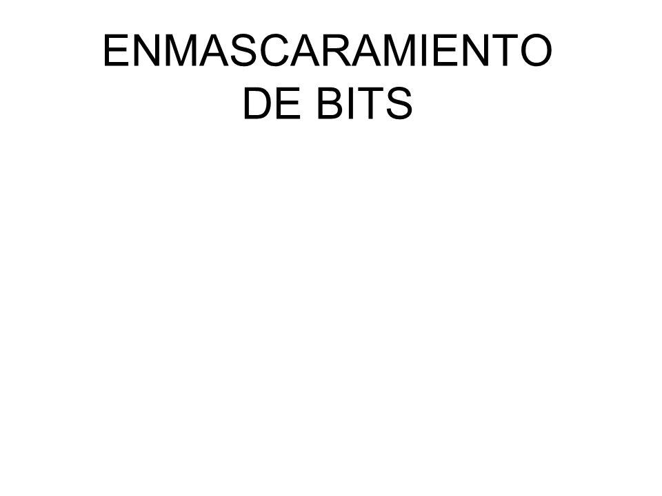 ENMASCARAMIENTO DE BITS