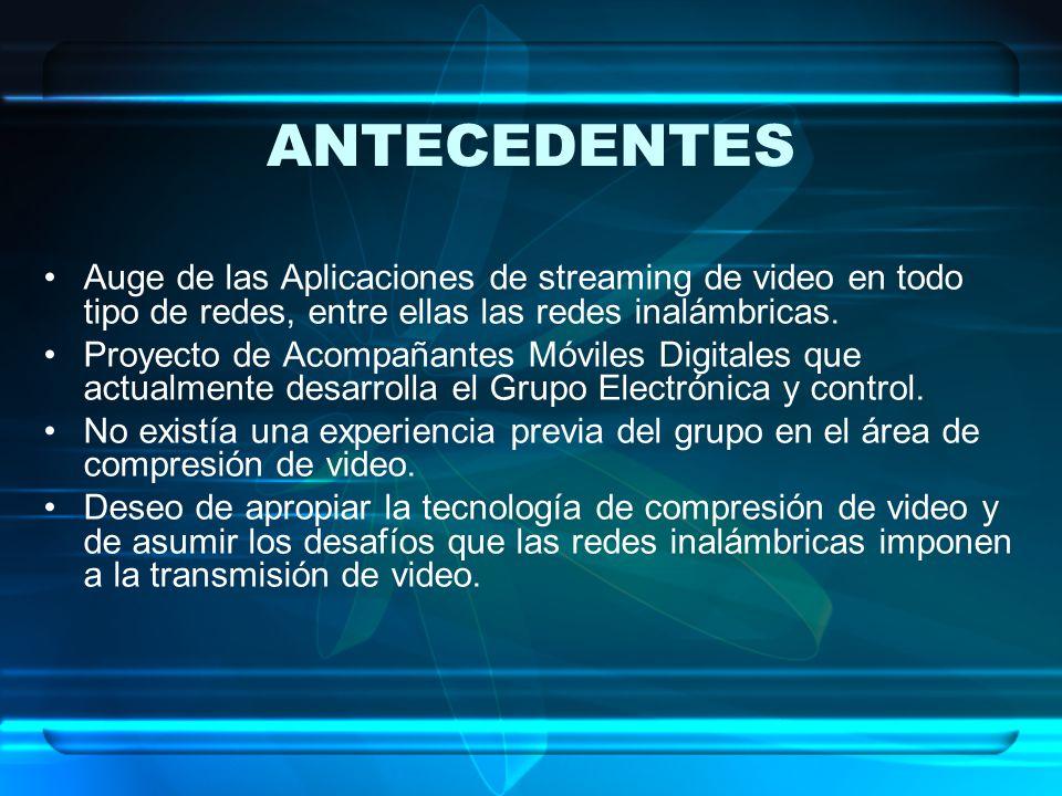ANTECEDENTES Auge de las Aplicaciones de streaming de video en todo tipo de redes, entre ellas las redes inalámbricas. Proyecto de Acompañantes Móvile