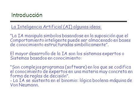 Adquisición de Conocimiento Interface de Usuario Facilidad de Explicación Máquina de Inferencia Base de Datos Global Computador Host etc...