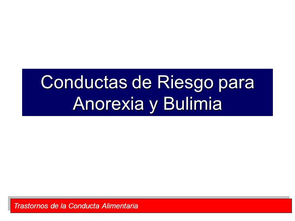 Trastornos de la Conducta Alimentaria Conductas de Riesgo para Anorexia y Bulimia