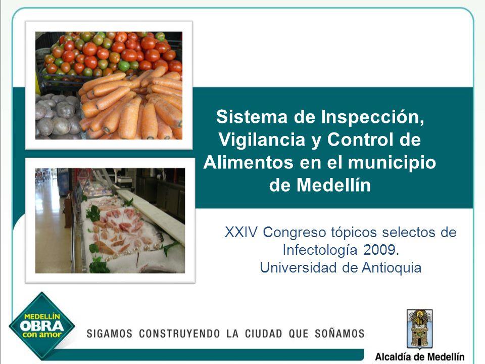 Sistema de Inspección, Vigilancia y Control de Alimentos en el municipio de Medellín XXIV Congreso tópicos selectos de Infectología 2009. Universidad
