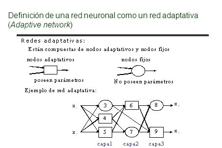 Perceptrones en estructura multicapa Consideraciones sobre la regla de aprendizaje (2): Considerando: Se tiene: El error local se reducirá más rápido para un :