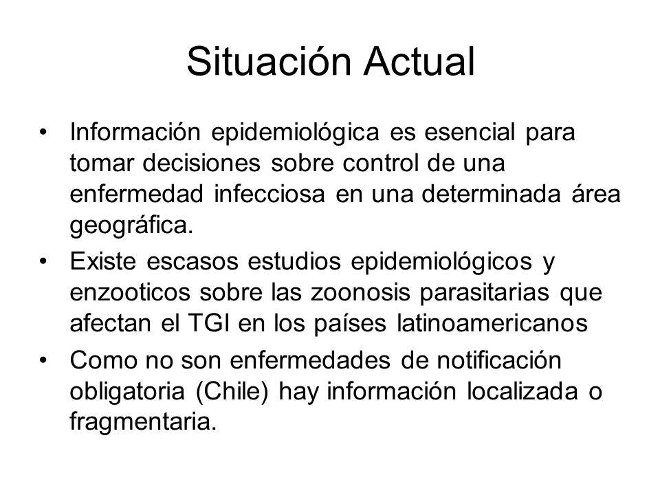 Situación Actual Información epidemiológica es esencial para tomar decisiones sobre control de una enfermedad infecciosa en una determinada área geogr