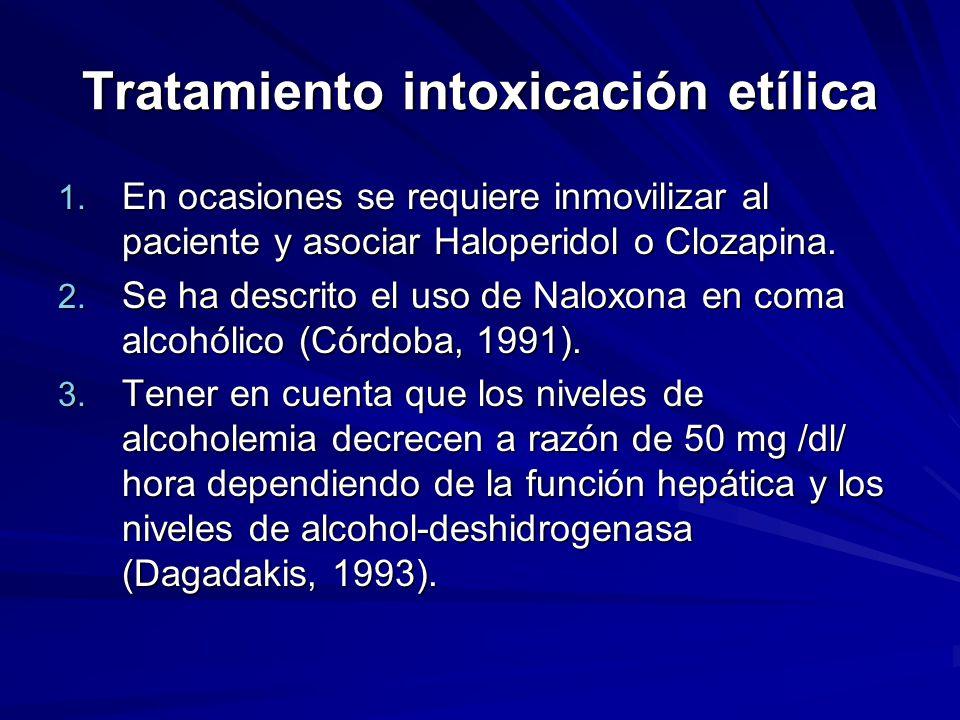 Tratamiento intoxicación etílica 1.