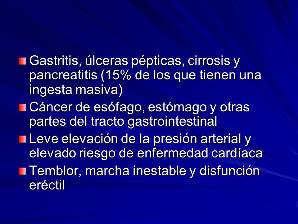 Trastornos sexuales Disminución de la libido por disminución de la testosterona y aumento de estrógenos con daño testicular Disfunción eréctil