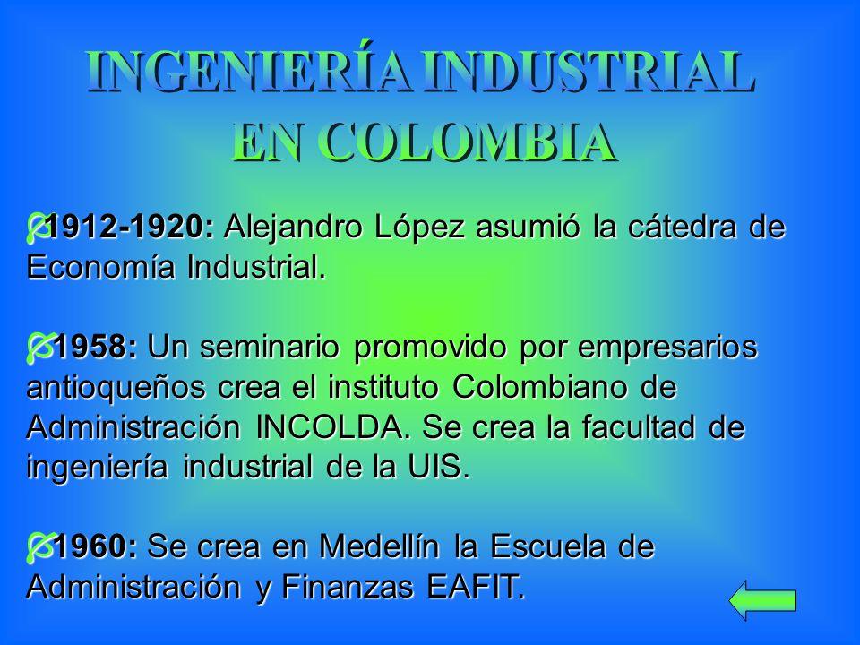 1912-1920: Alejandro López asumió la cátedra de Economía Industrial.
