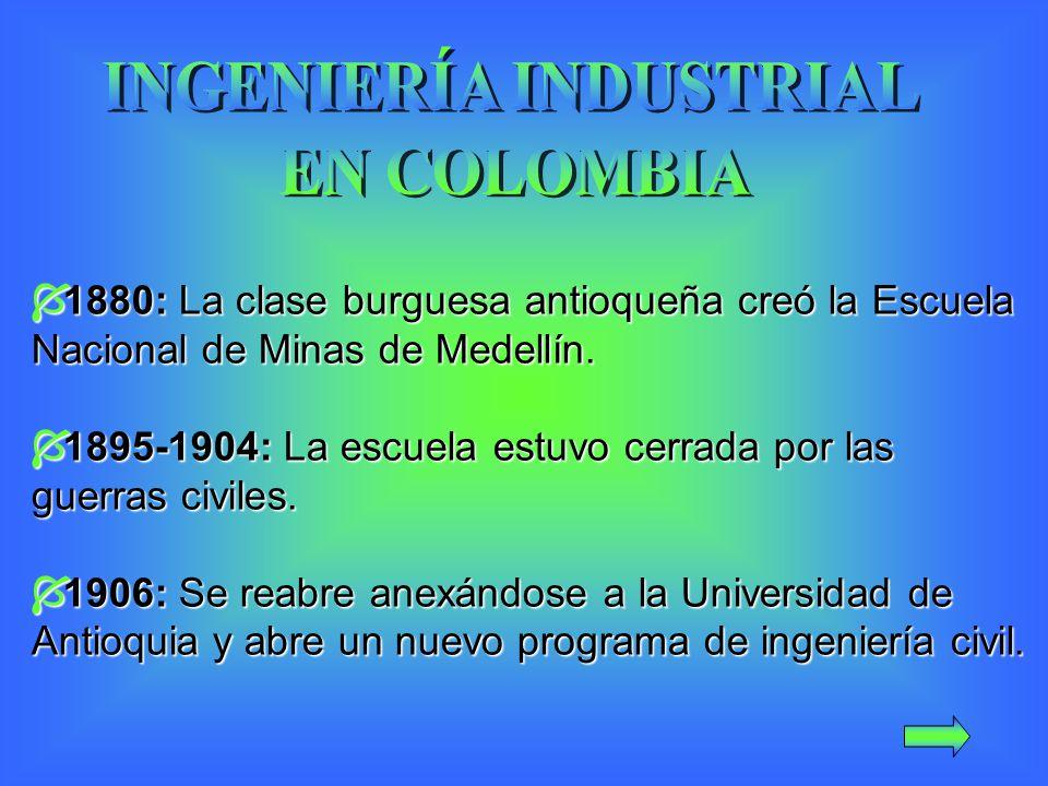 1880: La clase burguesa antioqueña creó la Escuela Nacional de Minas de Medellín.