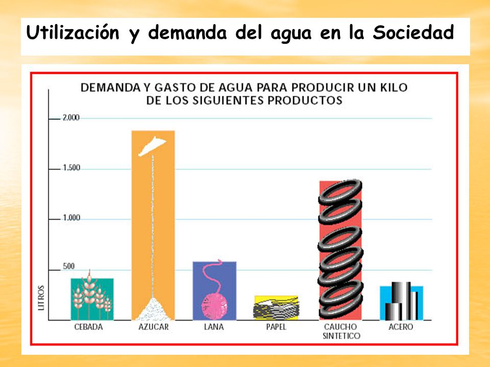 Utilización y demanda del agua en la Sociedad