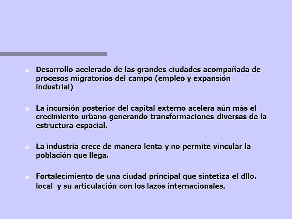 DEPENDENCIA NEOCOLONIAL Industrialización por substitución de importaciones n Inversión de capital foráneo en la industria ligera, orientada al mercad