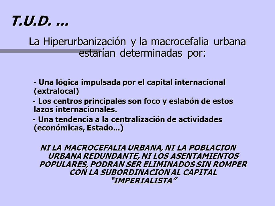 n Desarrollo acelerado de las grandes ciudades acompañada de procesos migratorios del campo (empleo y expansión industrial) n La incursión posterior d