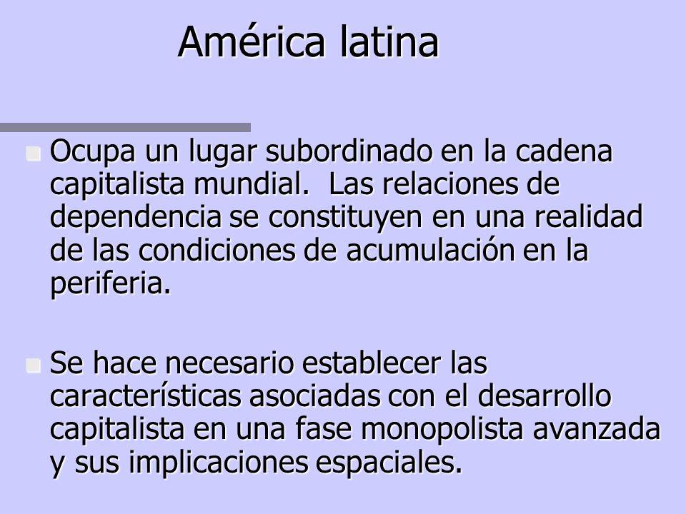 PLANTEAMIENTO ALTERNATIVO n Plantea la necesidad de un análisis general que permita identificar rasgos comunes de la Urbanización latinoamericana. n C