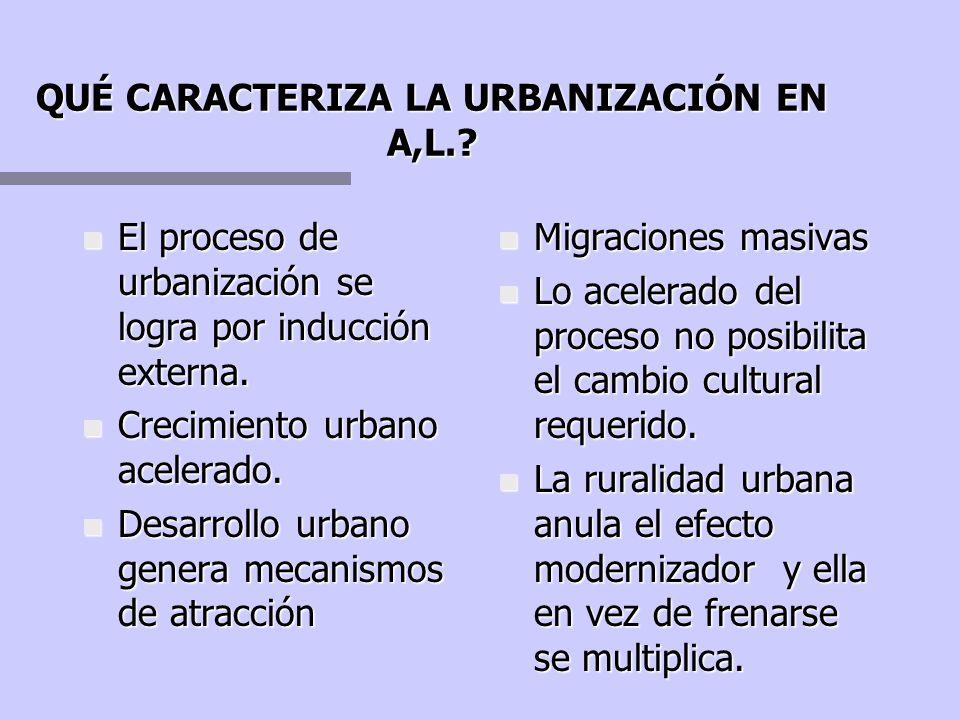 Cómo explica la Teoría de la Marginalidad las condiciones del desarrollo urbano en A.L.? + Existen barreras culturales que impiden el transito de lo t