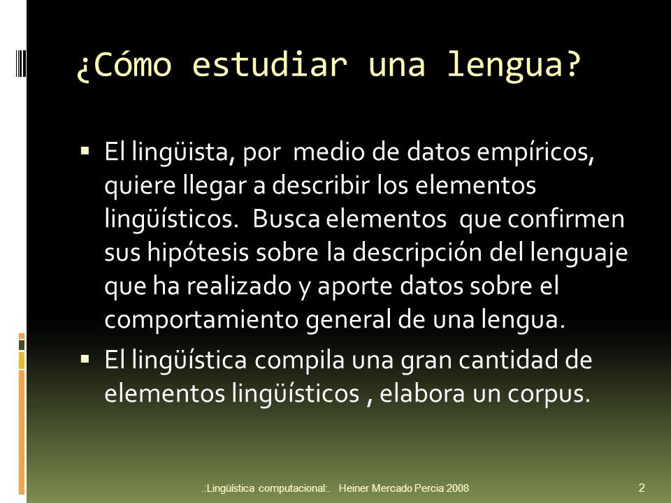 Formatos.:Lingüística computacional:.