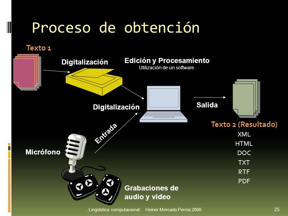 Proceso de obtención.:Lingüística computacional:.