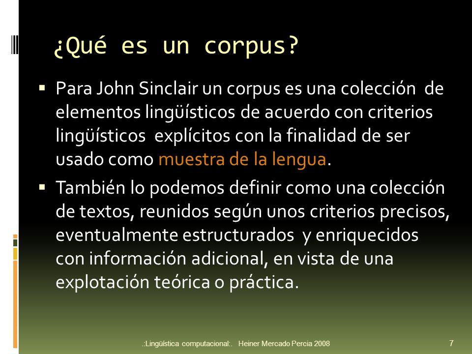 ¿Qué es un corpus.