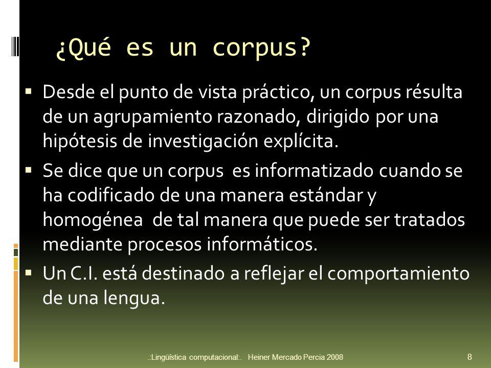 Ejemplo de corpus etiquetado en XML.:Lingüística computacional:.