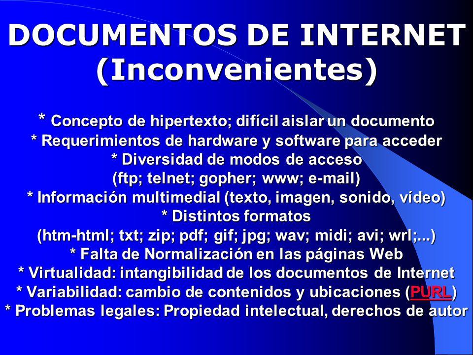 FORMATO USMARC (I): CAMPO 856 (INDICADORES) Primero (Método de acceso) 0 Correo electrónico 1 FTP 2 Acceso remoto (Telnet) 3 Línea telefónica (Dial-up) 7 Método de acceso, especificado en el subcampo $2 Segundo (No definido) # No definido
