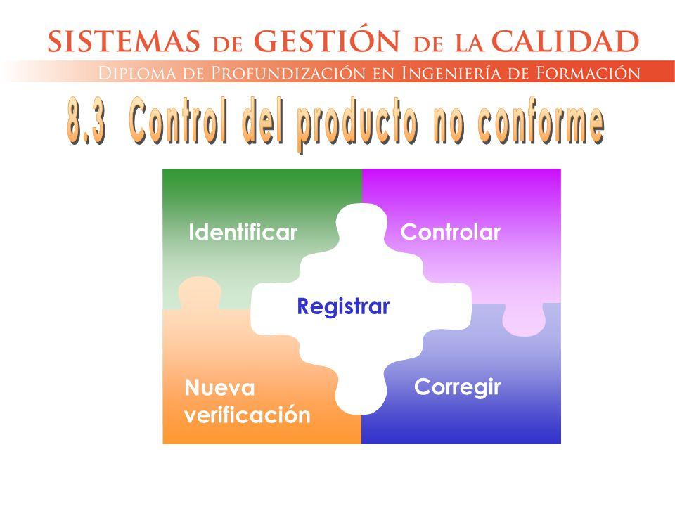 Identificar Controlar Corregir Nueva verificación Registrar