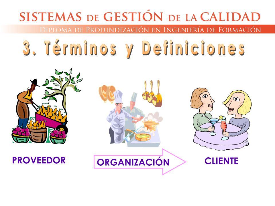PROVEEDOR ORGANIZACIÓN CLIENTE