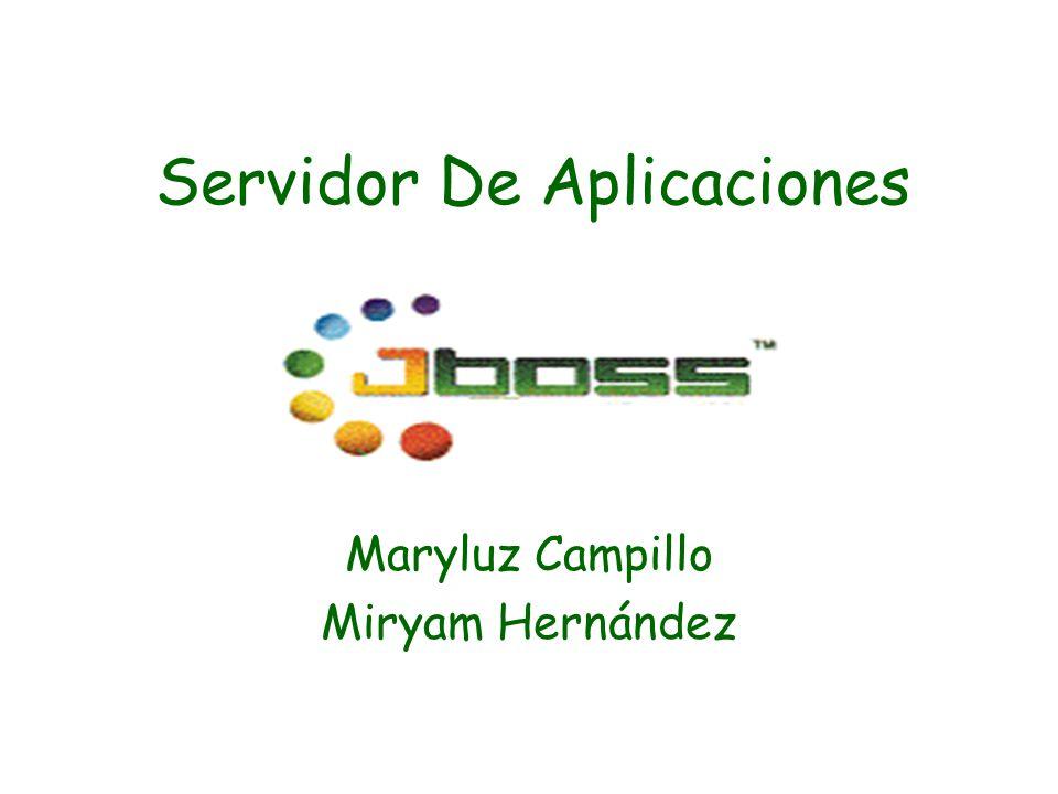 Servidor De Aplicaciones Maryluz Campillo Miryam Hernández