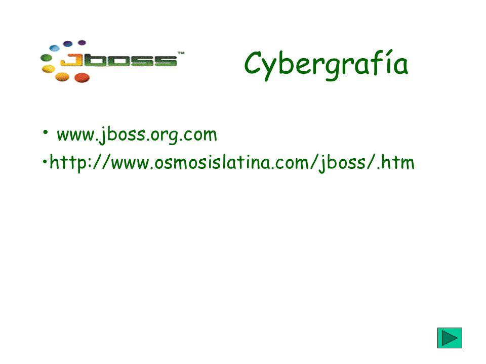 Cybergrafía www.jboss.org.com http://www.osmosislatina.com/jboss/.htm