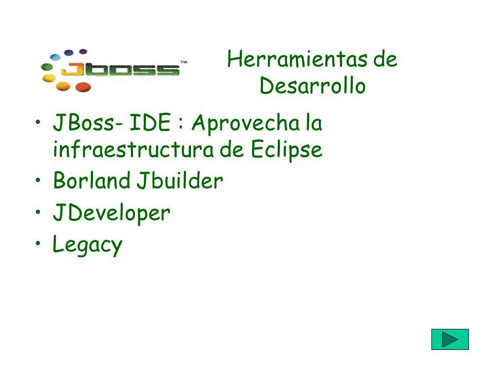 Herramientas de Desarrollo JBoss- IDE : Aprovecha la infraestructura de Eclipse Borland Jbuilder JDeveloper Legacy