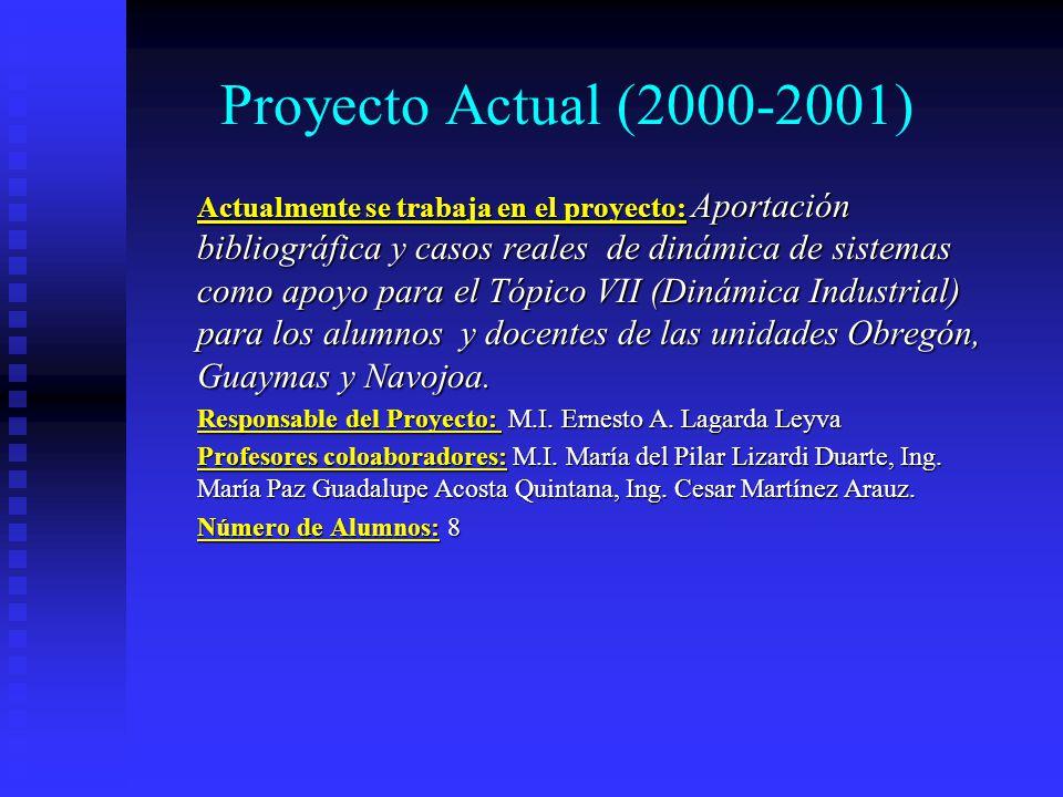Temas de titulación con DS Rafael Ramirez Parra: Utilidad de la dinámica de sistemas en los ciclos productivos, 1998 Rafael Ramirez Parra: Utilidad de