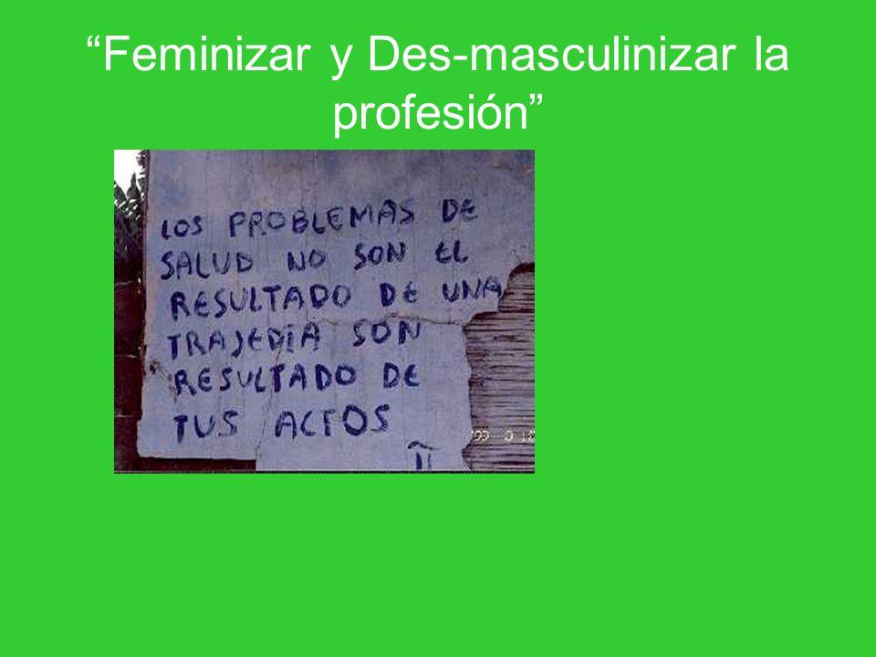 Feminizar y Des-masculinizar la profesión