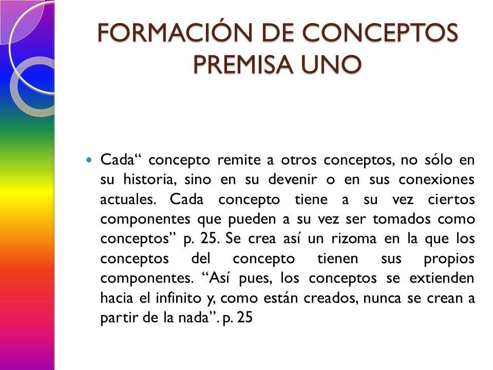 Cada concepto remite a otros conceptos, no sólo en su historia, sino en su devenir o en sus conexiones actuales.