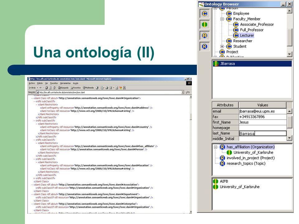 Una ontología (II)