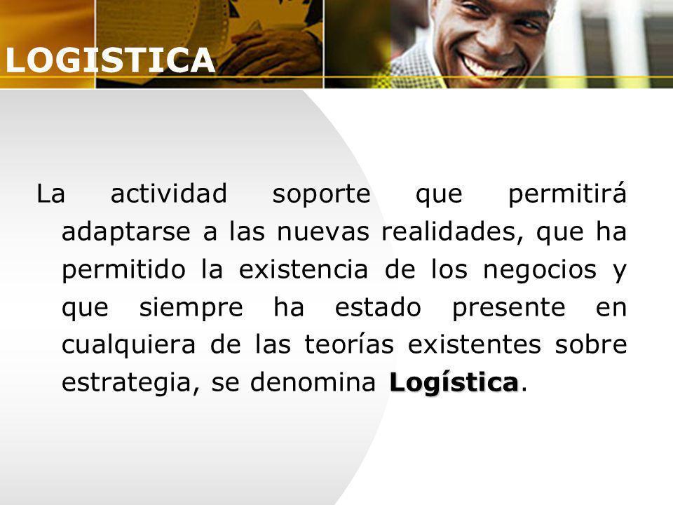 Logística La actividad soporte que permitirá adaptarse a las nuevas realidades, que ha permitido la existencia de los negocios y que siempre ha estado