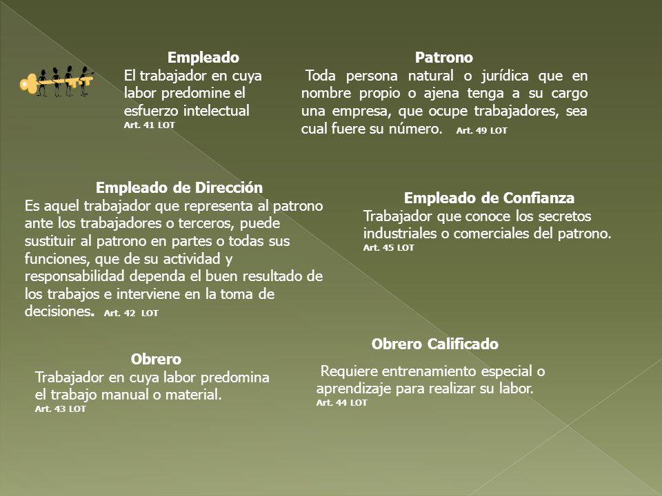 Patrono Toda persona natural o jurídica que en nombre propio o ajena tenga a su cargo una empresa, que ocupe trabajadores, sea cual fuere su número. A