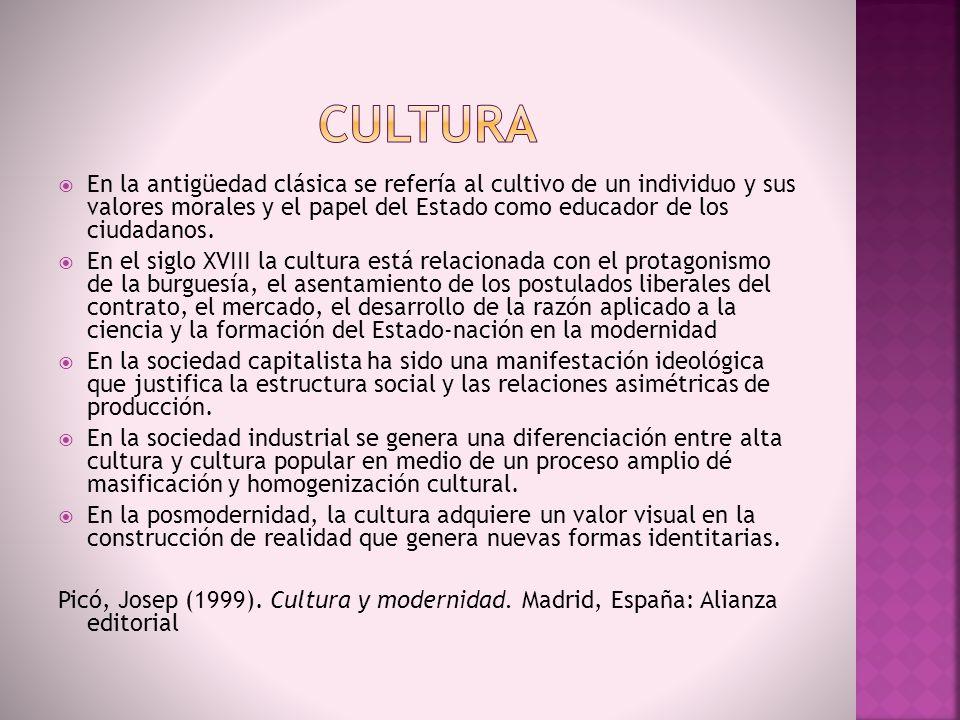 Como dimensión del desarrollo reducida a expresiones artísticas o al reconocimiento de algunas diversidades.