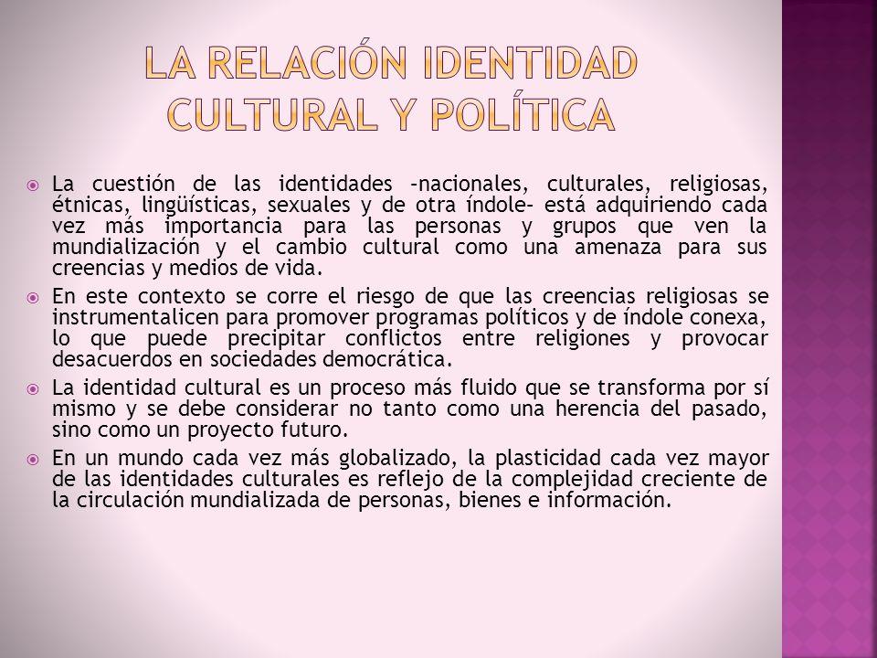 La caracterización de la cultura como bloque delimitado y homogéneo.