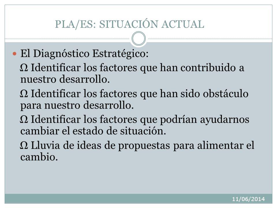 11/06/2014 PLA/ES: SITUACIÓN ACTUAL 1. EL DIAGNÓSTICO 2. MARCO DEL PROYECTO 3. DESCRIPCIÓN DE LOS BENEFICIARIOS 4. ARBOL DE PROBLEMAS
