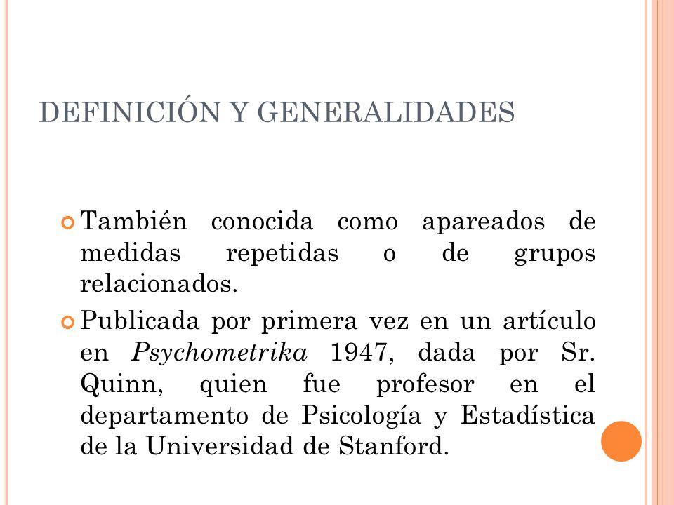 BIBLIOGRAFIA Siegel.S, Castellan N.J. Estadistica no paramétrica.