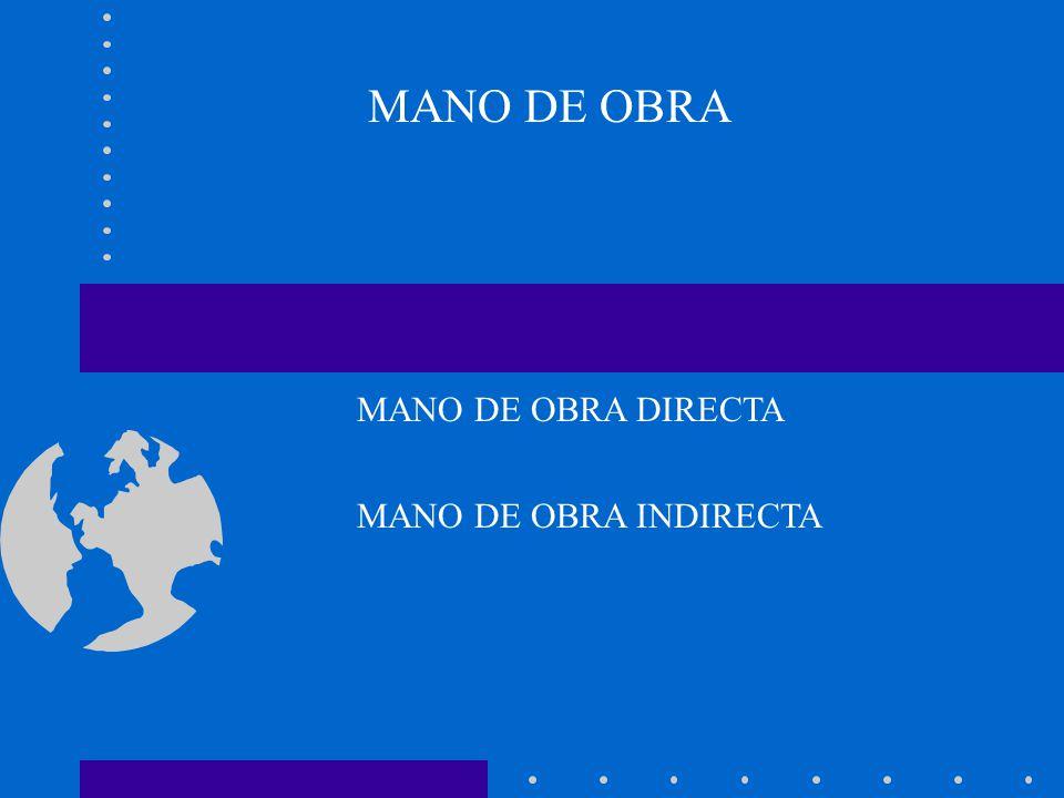 MANO DE OBRA DIRECTA MANO DE OBRA INDIRECTA
