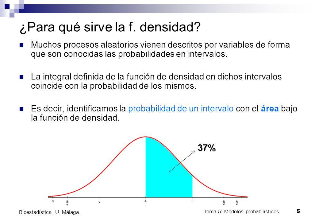 Tema 5: Modelos probabilísticos 6 Bioestadística.U.
