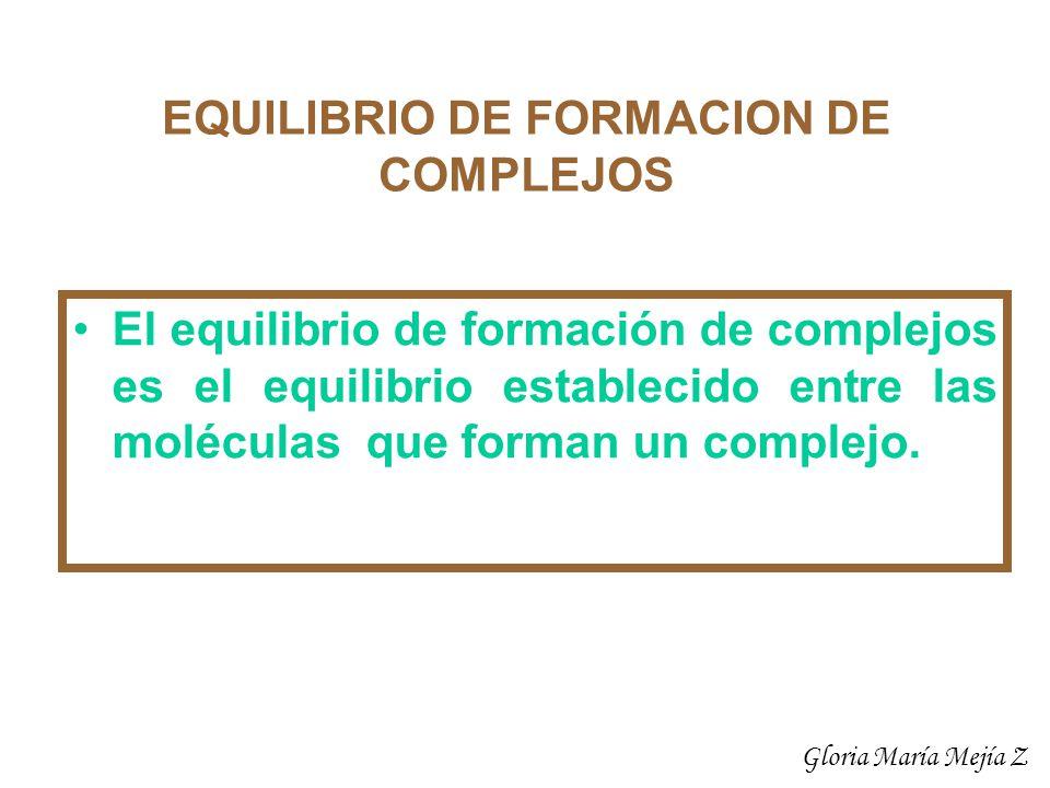 Ejemplo: Calcular las concentraciones de todas las especies en una solución 0.001 M de Ag+ y 0.0015 M de NH3.